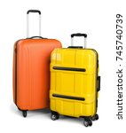 luggage consisting of large... | Shutterstock . vector #745740739