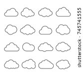 Clouds Line Art Icon. Storage...