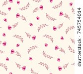 seamless pattern with cute... | Shutterstock .eps vector #745754014