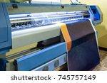 large inkjet printer head... | Shutterstock . vector #745757149