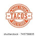 made fresh delicious taco food... | Shutterstock .eps vector #745758835