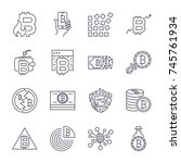 bitcoin  cryptocurrency icons ...   Shutterstock .eps vector #745761934