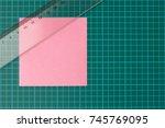 green cutting mat  transparent... | Shutterstock . vector #745769095