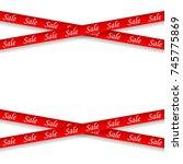 sale.red ribbon.vector design...   Shutterstock .eps vector #745775869
