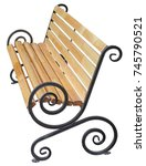 park bench isolated on white... | Shutterstock . vector #745790521