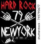 hard rock music poster | Shutterstock .eps vector #745790677