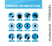 exercises for healthy eyes.... | Shutterstock . vector #745804681
