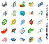 concept icons set. isometric...   Shutterstock . vector #745806271