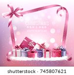 christmas holiday background...   Shutterstock .eps vector #745807621