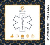 medical symbol of the emergency ... | Shutterstock .eps vector #745811329