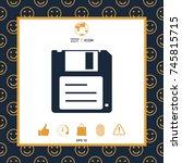 floppy disk icon | Shutterstock .eps vector #745815715