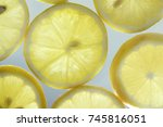lemon slices  | Shutterstock . vector #745816051