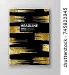 vector black and gold design... | Shutterstock .eps vector #745822345