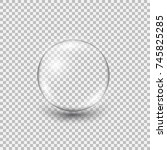 transparent glass sphere with... | Shutterstock .eps vector #745825285