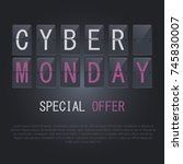 cyber monday icon. banner.... | Shutterstock .eps vector #745830007