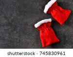christmas background. red... | Shutterstock . vector #745830961