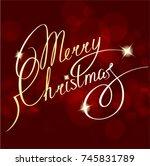christmas  gold  glitter ... | Shutterstock .eps vector #745831789
