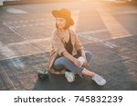 trendy and fashionable... | Shutterstock . vector #745832239