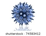 microbacteria isolated on white ... | Shutterstock . vector #74583412