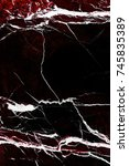close up of marble burgundy... | Shutterstock . vector #745835389