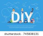 diy concept vector illustration ... | Shutterstock . vector #745838131