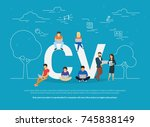 cv concept vector illustration... | Shutterstock . vector #745838149