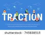 usability traction concept... | Shutterstock . vector #745838515