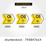 triple yellow infographic... | Shutterstock .eps vector #745847614