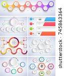 illustration set infographics...   Shutterstock . vector #745863364