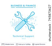 technical support symbol on...
