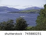 view of greenock from the hill | Shutterstock . vector #745880251
