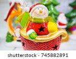 Ceramic Christmas Lantern With...