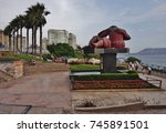 Small photo of LIMA, PERU -29 JAN 2017- View of the Parque del Amor (Park of Love), famous for the El Beso sculpture, overlooking the Pacific Ocean in Miraflores, Lima, Peru.