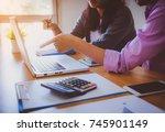 business work concept planning  ... | Shutterstock . vector #745901149