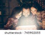happiness  friendship  wonder ... | Shutterstock . vector #745902055