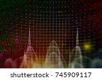 eeg wave in human brain  brain ...   Shutterstock . vector #745909117