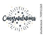 initial letter congratulations... | Shutterstock .eps vector #745911265