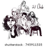 27 club culture music history... | Shutterstock .eps vector #745911535