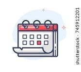 vector calendar icon   Shutterstock .eps vector #745912201