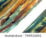 abstract acrylic creative... | Shutterstock . vector #745913341