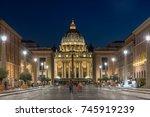 rome  italy   june 22  2017 ...   Shutterstock . vector #745919239