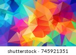 abstract geometric backgrounds... | Shutterstock .eps vector #745921351