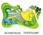 nature landscape and eco... | Shutterstock .eps vector #745931389