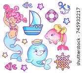vector hand drawn illustration... | Shutterstock .eps vector #745932217