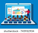 online training | Shutterstock .eps vector #745932934