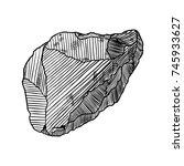 realistic hand drawn sketch... | Shutterstock . vector #745933627