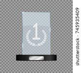 glass first place award....   Shutterstock .eps vector #745935409