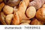 breads and baked goods close up ...   Shutterstock . vector #745939411