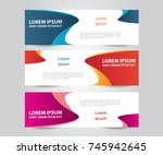 set of modern colorful banner... | Shutterstock .eps vector #745942645