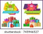 big fantastic sale offer only...   Shutterstock .eps vector #745946527